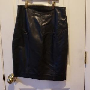 Super soft leather skirt